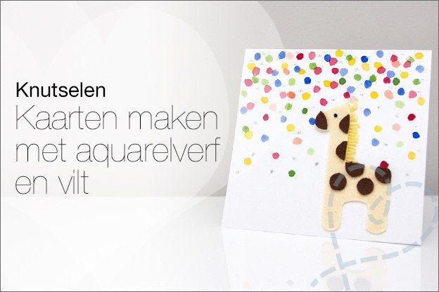 Zelf kaartjes maken #6: Kaarten met aquarelverf en vilt