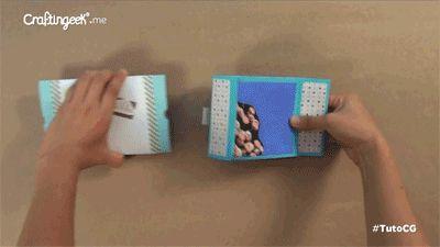 Tarjeta *Pop* Explosiva - Rubber band Scrapbook DIY