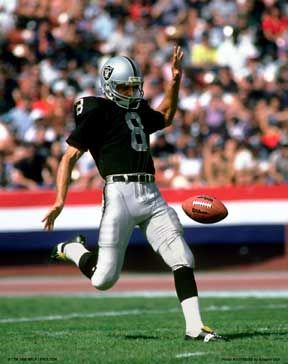 RAY GUY:    PUNTER WITH OAKLAND RAIDERS