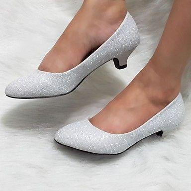 Women's Shoes Glitter Kitten Heel Heels Pumps/Heels Wedding/Outdoor/Dress/Casual Silver/Gold 4291084 2016 – $19.99