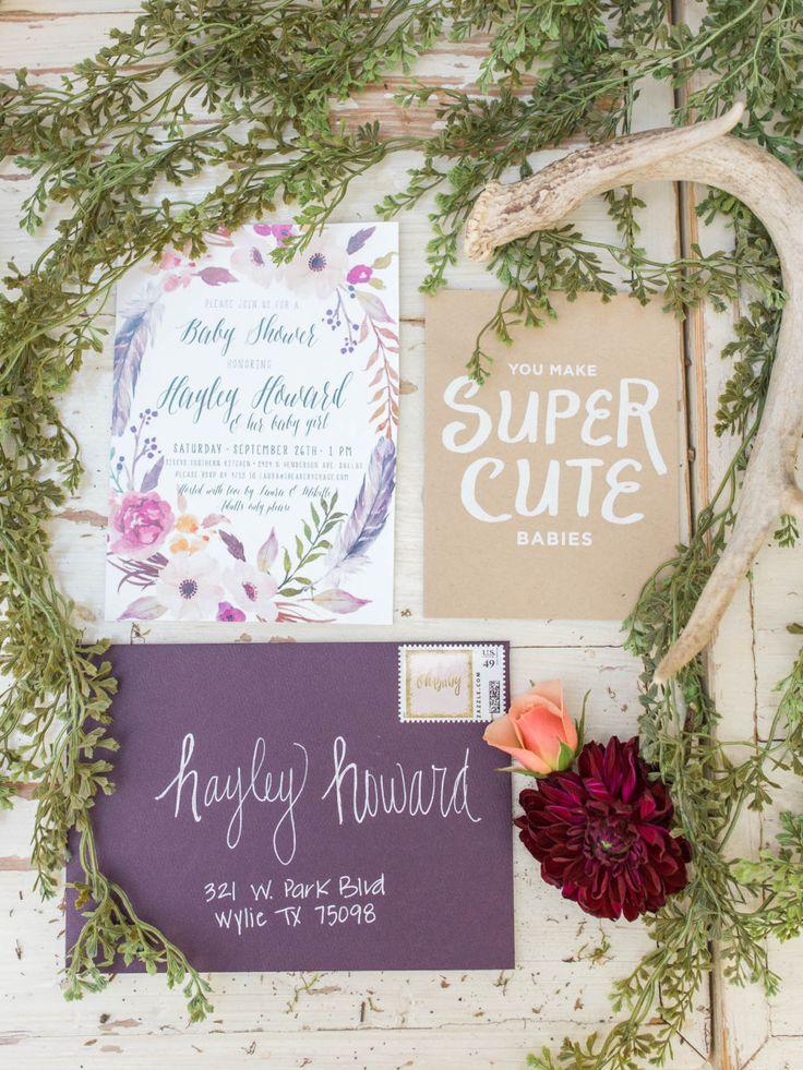 オーラムカラーの紫を使ったナチュラル感ある招待状はいかが♪秋の結婚式の招待状一覧♪
