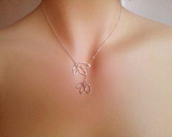 Doppia spirale Lariat Collana regalo per di MiritLevinJewelry