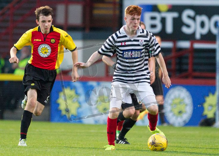 Queen's Park's Liam Brown in action during the IRN-BRU Cup game between Partick Thistle Colts and Queen's Park.