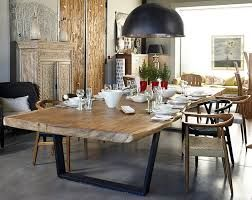 long wooden table for cafe - Google Search