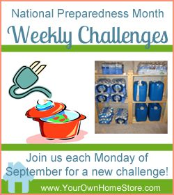 National Preparedness Month (September) Weekly Challenges.  Join in!