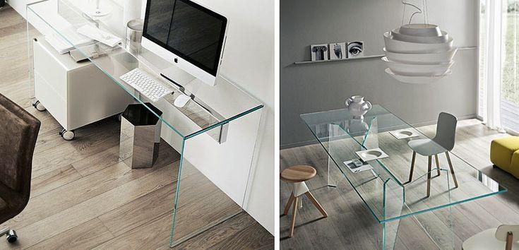 Escritorios de cristal para decorar la oficina