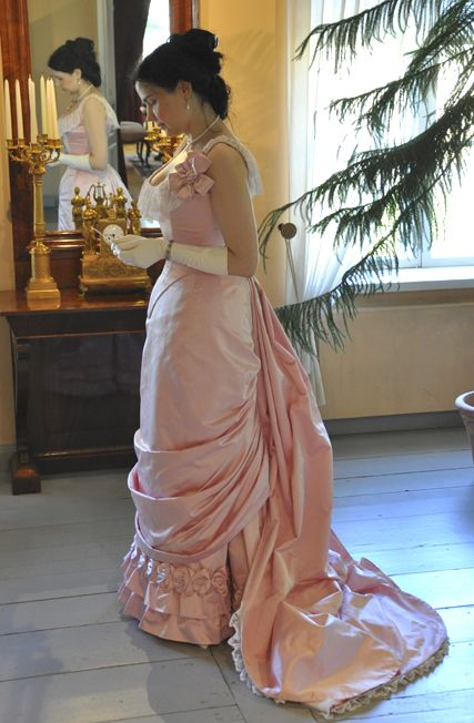 Before the Automobile: natural form era ball gown