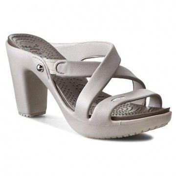 Nazouváky CROCS - Cyprus IV Heel W 14558 Platinum/Pewter
