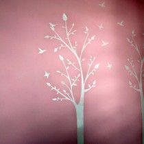Plantilla decorativa (stencil) Arbol para la decoración de interiores, solo pinta y listo!