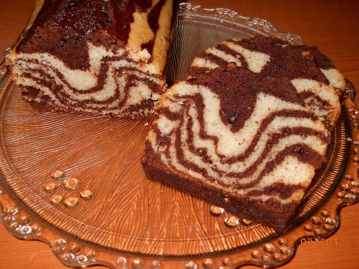 Reteta culinara Desert chec zebra de post din categoria Prajituri. Cum sa faci Desert chec zebra de post