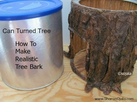 ▶ Make Realistic Tree Bark - YouTube tutorial for making an indoor fairy house (not for outside)