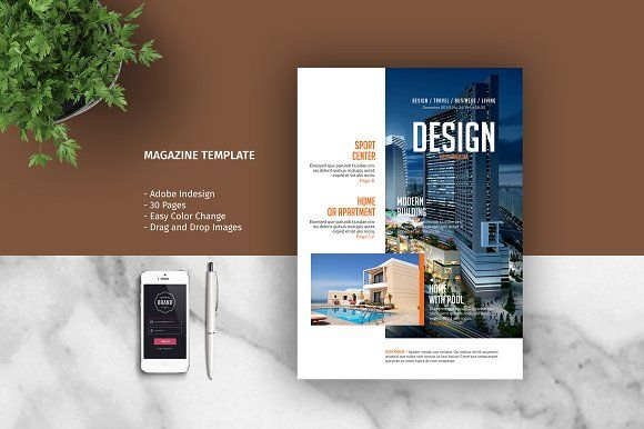 Magazine Template by tujuhbenua on @creativemarket