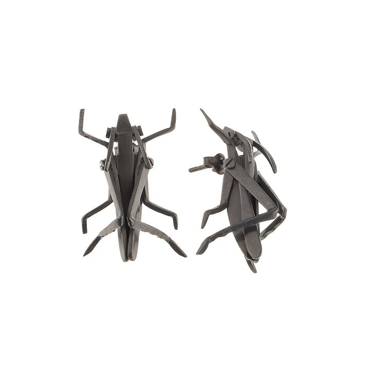 Mechanical grasshooper. Earrings from INSECTS collection by Anna Orska.