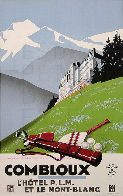 Commarmond Combloux Plm Mont Blanc 61.5X100 Serre by estampemoderne.fr, via Flickr