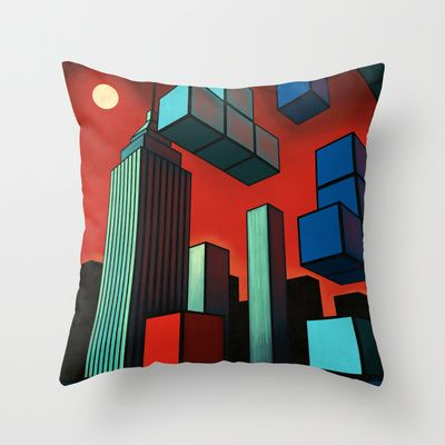 Tetroid Apocalypse Throw Pillow by Remus Brailoiu - $20.00