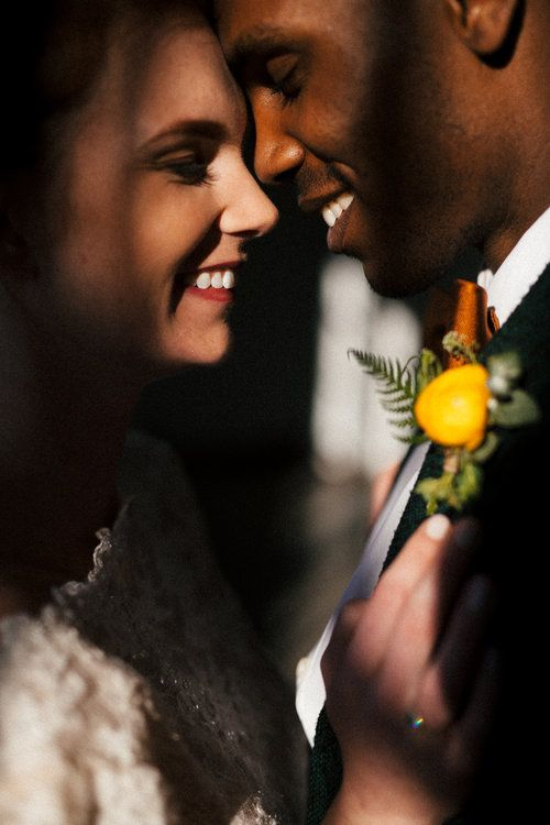Flowers by Lace and Lilies, interracial wedding, black suit with bow tie, industrial city wedding, yellow ranunculus boutonniere