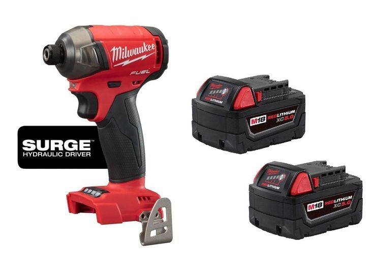Other Home Improvement Tools 11704: Milwaukee 2760-20 M18™ Fuel™ Surge™ 1 4 In. Hex Hydraulic Impact Driver + 2 Batt -> BUY IT NOW ONLY: $284.99 on eBay!