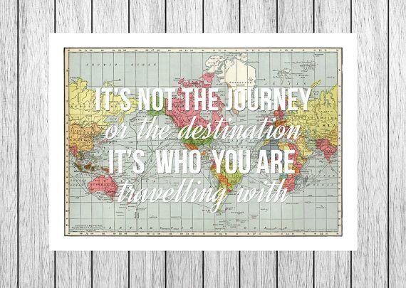 Weltkarte, Liebe Zitate, Fernweh, personalisierte, Welt Karte drucken, Jubiläum, Hochzeitsgeschenk, Liebe, Reisen, World Map Poster, Bridal Shower