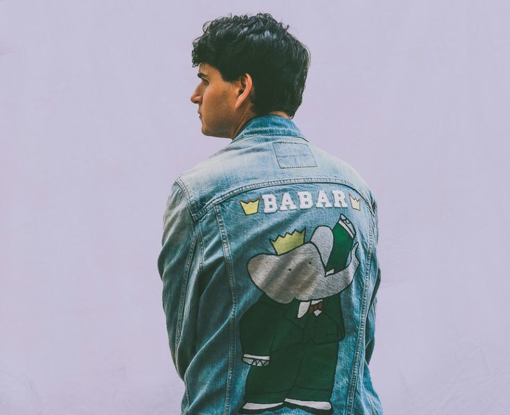 Ezra Koenig has the coolest denim jacket