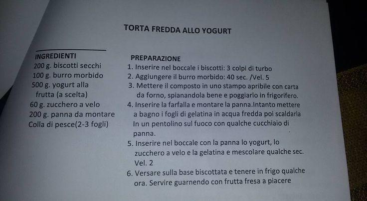 torta fredda allo yogurt Bimby