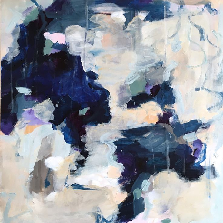 Luna by Parima Studio // abstract acrylic painting on wood