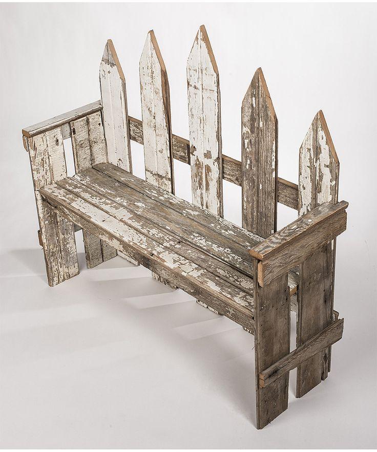 DIY inspiration-Repurposed Wood Garden Bench