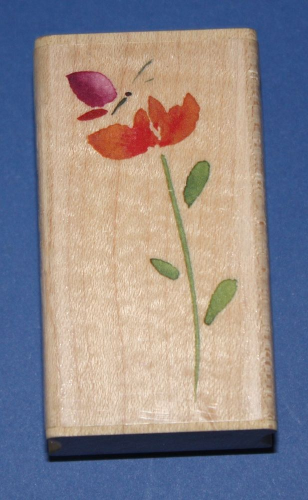 NEW Inkadinkado  Butterfly Blossom  Wooden Backed Rubber Stamp 97797LL