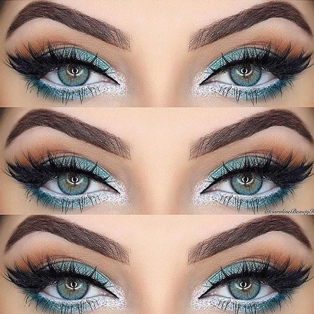 GORGEOUS EYE LOOK!! @carolinebeautyinc @shophudabeauty lashes in Scarlett