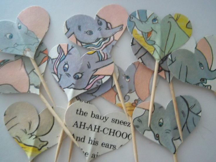 12 Vintage Dumbo Cupcake Toppers. $6.00, via Etsy.