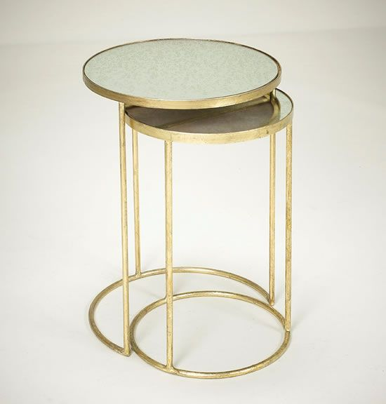 Robert Langford Gold Nesting Tables FURNITURE