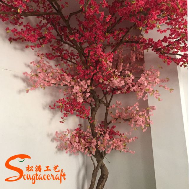 Source China Newest Decorative Products Type Fake Cherry Tree Arches Silk Flower Artificial Artificial Cherry Blossom Tree Artificial Tree Cherry Blossom Tree