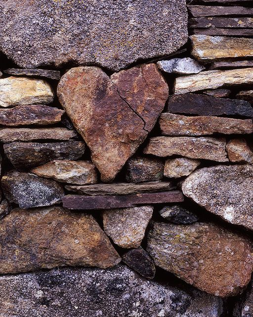 Stone wall with heart