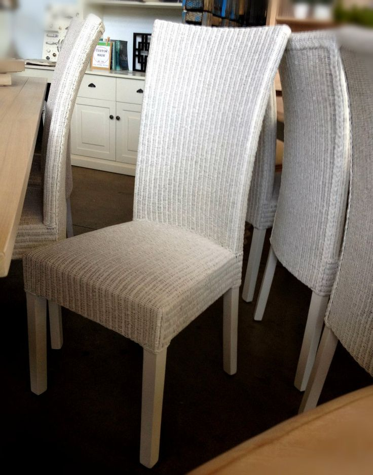 Villa Fine Loom Dining Chair - Distressed White - Canalside Interiors