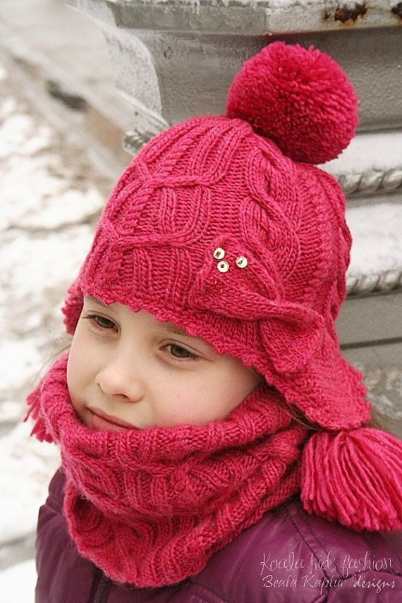Double Cabled Hat - Knitting pattern - Toddler, Child and Teen sizes - eBook/pdf pattern