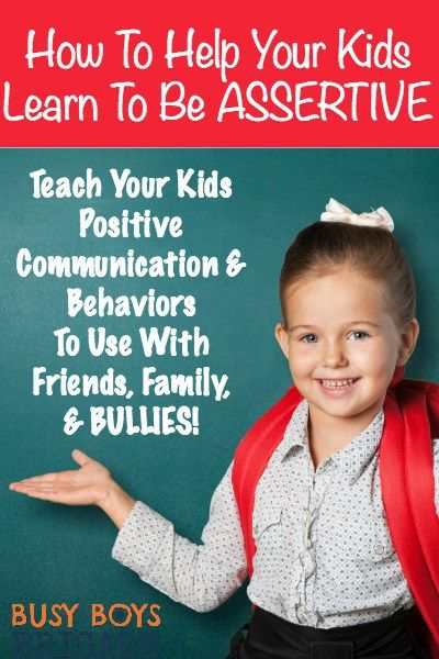 Check out how to help your kids learn to be assertive. Discover skills to teach your kids to deal with friends, siblings, and bullies.  Assertiveness training can help your kids positively handle situations their entire lives!