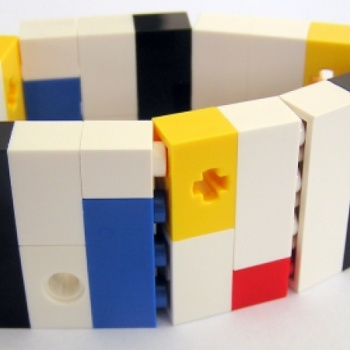 """LEGO bracelet """"collectible Model 5 at the Shopping Mall, $29.99  ***  http://www.facebook.com/MademoiselleAlma  Hope you LIKE my Facebook page-shop ♥    &    http://www.etsy.com/shop/MademoiselleAlma"""