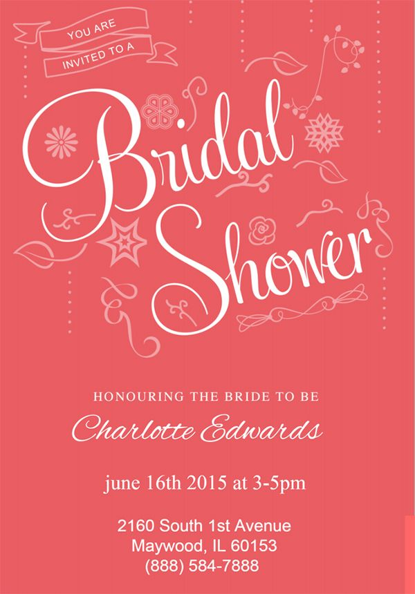 22 Free Bridal Shower Printable Invitations | Visit  Www.freetemplateideas.com  Free Bridal Shower Invitation Templates For Word