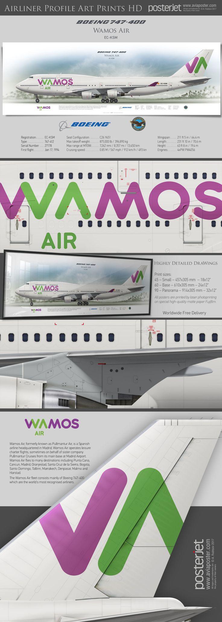 Boeing 747-400 Wamos Air EC-KSM | www.aviaposter.com | #airliners #aviation #jetliner #airplane #pilot #aviationlovers #avgeek #jet #airport #pilotlife #cabincrew #pullmantur