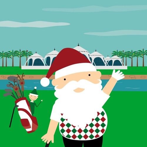 Santa Plays Golf in Dubai!
