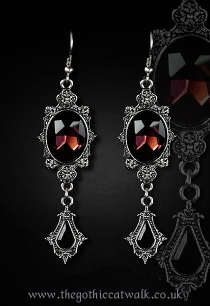 Cordelia Blue Gothic Earrings By Restyle