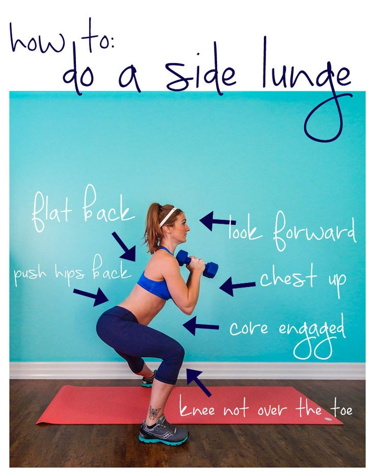 How to do a side lunge and get a better butt!    lushiousLIFTS.com