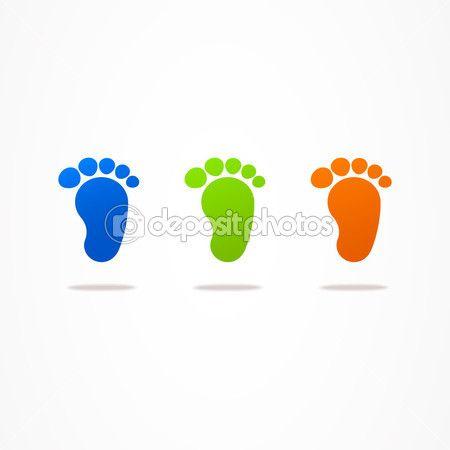 Логотип бизнес абстрактные детские следы веб — стоковая иллюстрация #43423933