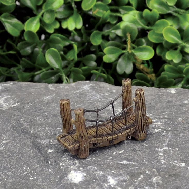MICRO SUSPENSION BRIDGE - This micro bridge is perfect for a micro fairy world that is teeny tiny. For the miro fairy garden inside a fairy garden perhaps. The detail on this micro fairy bridge is absolutely mind blowing. Check out our online store for a large range of micro accessories for your fairy garden or micro world.