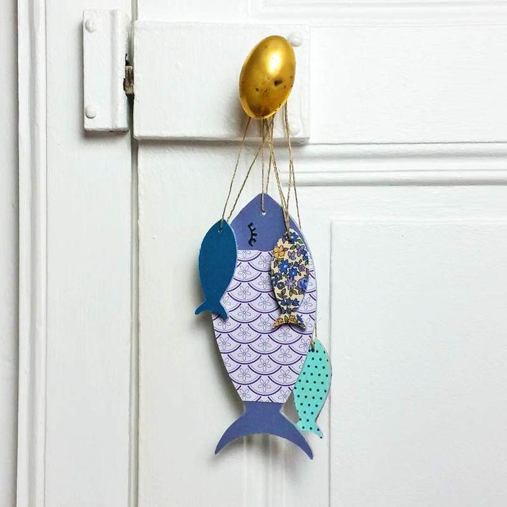 17 meilleures id es propos de poissons de papier sur pinterest artisanat de poissons. Black Bedroom Furniture Sets. Home Design Ideas