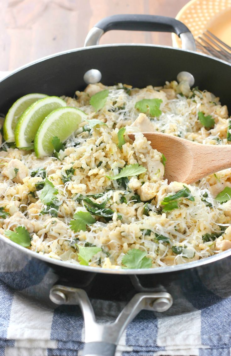 Cilantro Lime Chicken with Rice Skillet