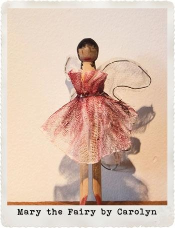 Mary the Fairy Peg Doll.  Created for the Small Acorns peg doll competition 2012