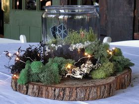 Chuck Does Art: Wedding Centerpieces: DIY Rustic Terrariums with subtle Nerd Accents  Star Wars Terrarium fun from our wedding!