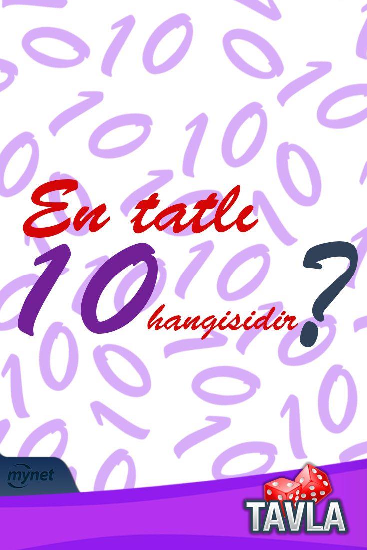 Biraz eğlenceye ne dersin? Bil bakalım en tatlı 10 hangisi?  #Bilmece #Bulmaca #Tavla #Eğlence