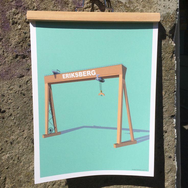 Eriksberg 30x40. #print #gothenburg #popin #eriksberg #westsweden