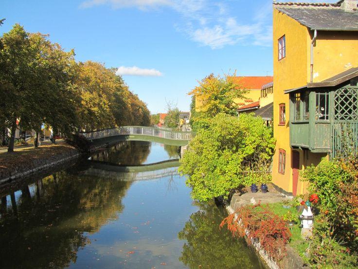 Frederiksvaerk, Halsnaes. The canal between Arresoe Lake and Roskilde Fjord summer 2014 by Erik K Abrahamsen